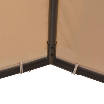 vidaXL Prieel 4x4 m staal beige