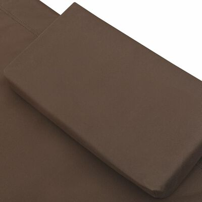 vidaXL Loungebed stof bruin