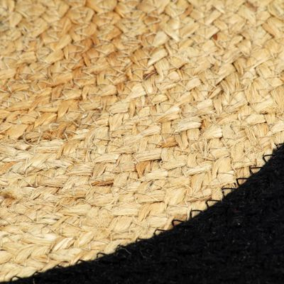 vidaXL Placemats 4 st 38 cm jute en katoen natuurlijk en zwart