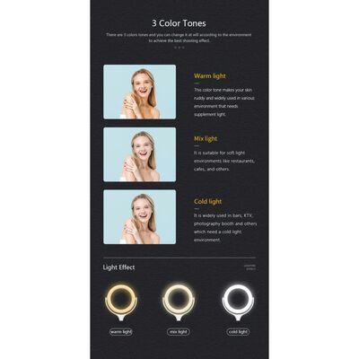 Selfielamp Led-ring (20 Cm) Met Standaard (40 Cm) En Mobiele Houder