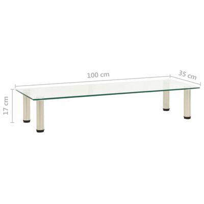 vidaXL Tv-meubel 100x35x17 cm gehard glas transparant