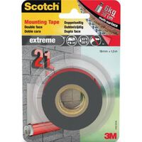Scotch montagetape Extreme, ft 19 mm x 1,5 m, blisterverpakking