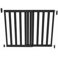 Noma Veiligheidshekje verstelbaar 63,5-106 cm hout zwart 93743