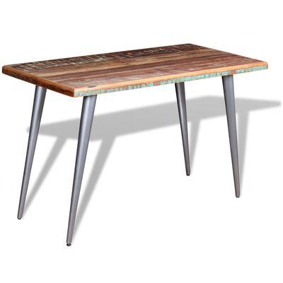 vidaXL Eettafel 120x60x76 cm massief gerecycled hout