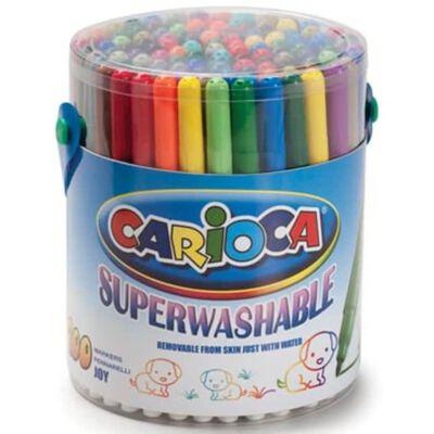 Carioca viltstift Doodles, 100 stiften in een plastic pot