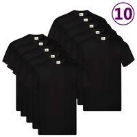 Fruit of the Loom T-shirts Original 10 st 5XL katoen zwart