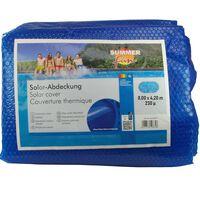 Summer Fun Zomerzwembadhoes solar ovaal 800x420 cm PE blauw