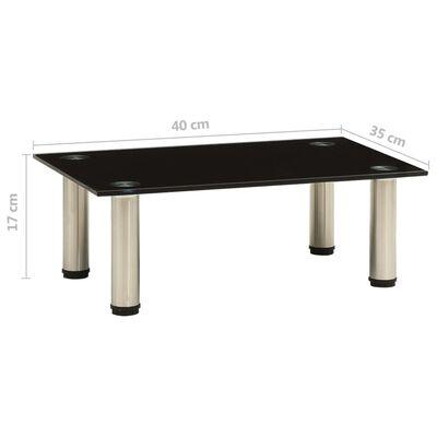 vidaXL Tv-meubel 40x35x17 cm gehard glas zwart