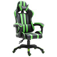 vidaXL Gamestoel kunstleer groen