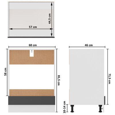 vidaXL 7-delige Keukenkastenset spaanplaat grijs