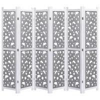 vidaXL Kamerscherm met 6 panelen 210x165 cm massief hout grijs