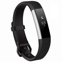 Fitbit Alta / Hr Armband Siliconen Zwart (s)