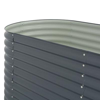 vidaXL Plantenbak verhoogd 400x80x81 cm gegalvaniseerd staal grijs