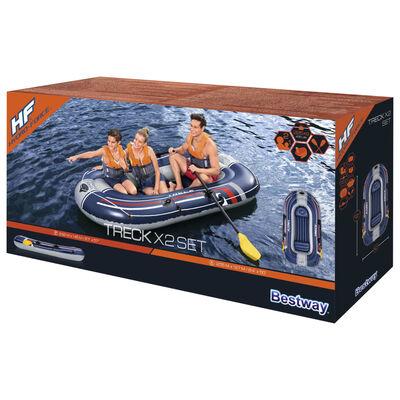 Bestway Opblaasbootset Hydro-Force Treck X2 255x127 cm