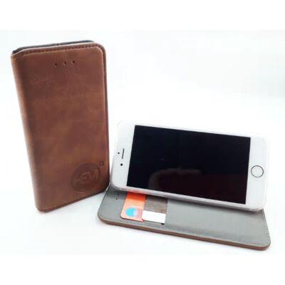 Apple iPhone SE 2020  - Bronzed Brown Ultra Dun Portemonnee Hoesje -