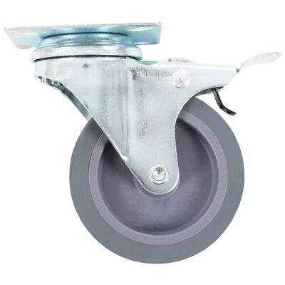 vidaXL 8 st Zwenkwielen 75 mm