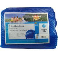 Summer Fun Zomerzwembadhoes solar rond 300 cm PE blauw