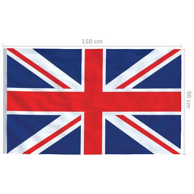 vidaXL Vlag met vlaggenmast Verenigd Koninkrijk 6,2 m aluminium