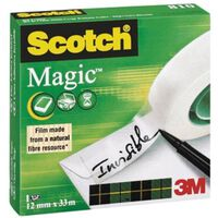 Scotch plakband Magic  Tape ft 12 mm x 33 m.
