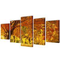 Canvasdoeken esdoorn 100 x 50 cm