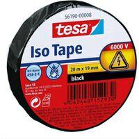 1x Tesa isolatietape rol zwart 20 mtr x 1,9 cm - Klusbenodigdheden -