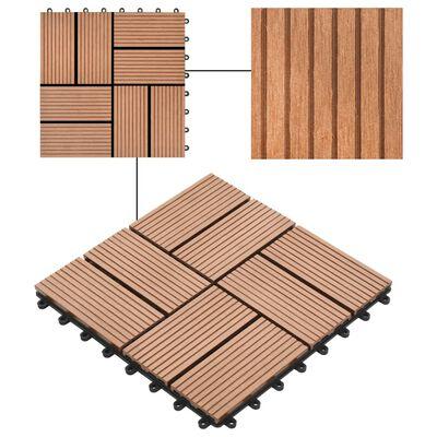 vidaXL 22 st Terrastegels 30x30 cm 2 m² HKC bruin