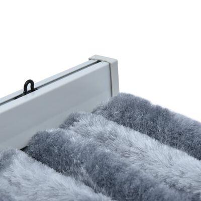 vidaXL Vliegengordijn 90x220 cm chenille zilverkleurig