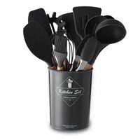 Keukengerei En Gereedschap 11 Delen Siliconen / Hout Zwart