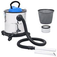 vidaXL Asstofzuiger met HEPA filter 1200 W 20 L roestvrij staal