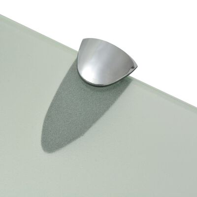 vidaXL Schappen zwevend 2 st 90x20 cm 8 mm glas