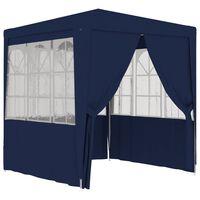 vidaXL Partytent met zijwanden professioneel 90 g/m² 2,5x2,5 m blauw