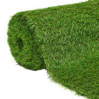 vidaXL Kunstgras 1,33x10 m/40 mm groen