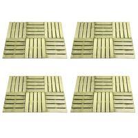 vidaXL 24 st Terrastegels 50x50 cm hout groen