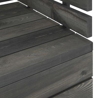 vidaXL 8-delige Loungeset pallet massief grenenhout donkergrijs