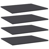 vidaXL Wandschappen 4 st 60x50x1,5 cm spaanplaat grijs