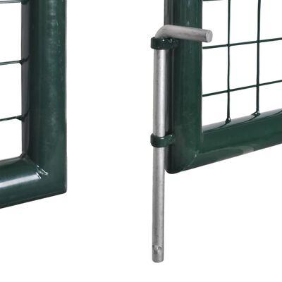 Tuinpoort modern hekwerk 289 x 175 cm / 306 x 225 cm (donkergroen)