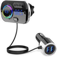Draadloze Fm-zender Voor In De Auto, Bluetooth 5.0 - Zwart