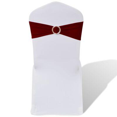 Decoratief stoellint met een diamant 25 stuks (wijnrood)
