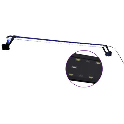 vidaXL Aquariumlamp met klemmen LED 115-130 cm blauw en wit