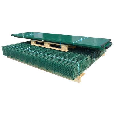 vidaXL Dubbelstaafmatten en palen 2008x2230 mm 12 m groen