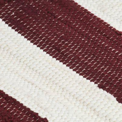 vidaXL Placemats 4 st chindi gestreept 30x45 cm bordeauxrood en wit