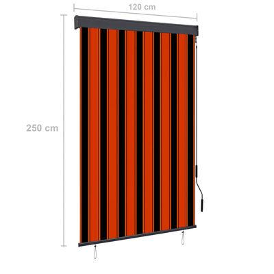 vidaXL Rolgordijn voor buiten 120x250 cm oranje en bruin