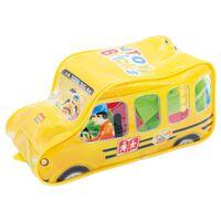 Diakakis bouwblokken schoolbus 100-delig