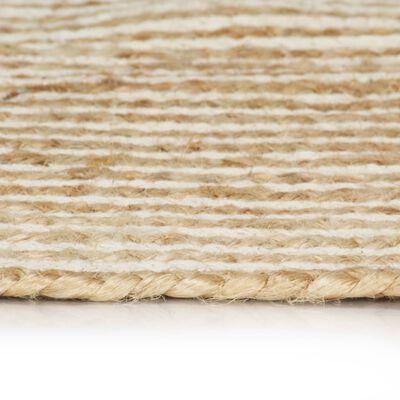 vidaXL Vloerkleed handgemaakt met spiraal ontwerp 90 cm jute wit