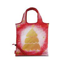Punta opvouwbare shopper Christmas 3 liter rood