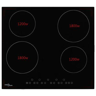 vidaXL Keramische kookplaat met 4 kookzones aanraakbediening 6000 W