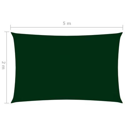 vidaXL Zonnescherm rechthoekig 2x5 m oxford stof donkergroen