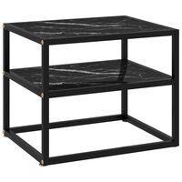 vidaXL Wandtafel 50x40x40 cm gehard glas zwart