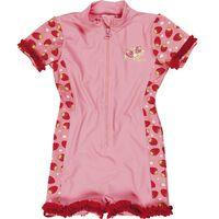 Playshoes zwempak met aardbeien UV-werend roze maat 110/116