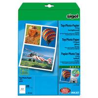 Inkjetpapier Sigel A4 170grs pak a 20 vel hoogglans hoogwit